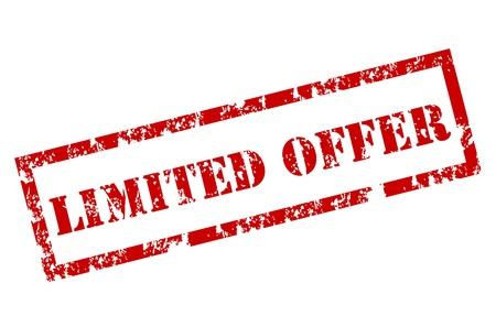 deals: Limited Offer grunge stamp