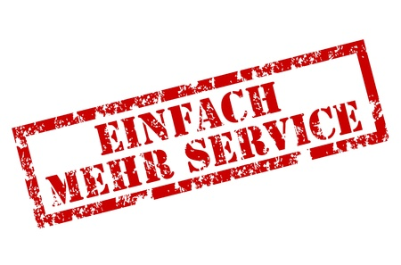 einfach mehr service grunge stamp Stock Vector - 12222112