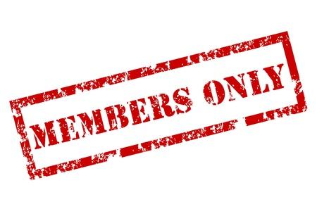 membres: Membres seulement de timbre Illustration