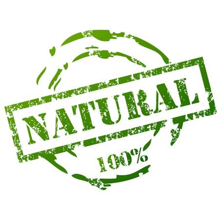 природа: Гранж Природный Stamp Иллюстрация