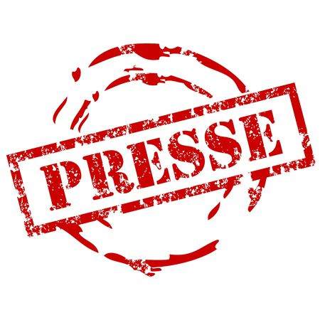 newspaper texture: Presse rubber stamp