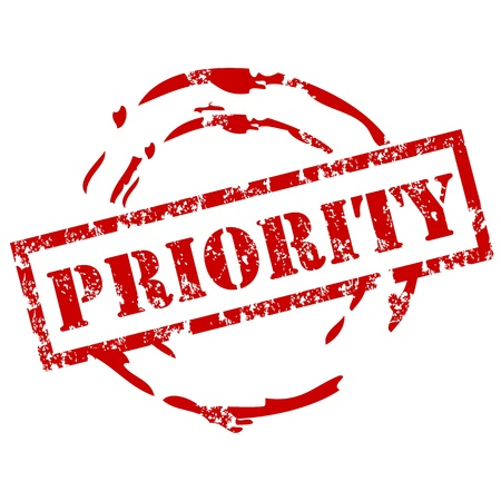 priorities: Priority rubber stamp Illustration