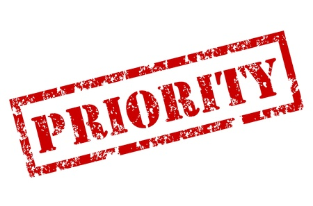 Priority stamp Vector