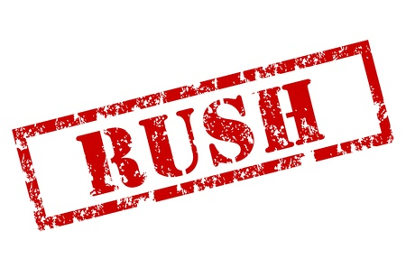 promising: Grunge Rush Stamp Illustration