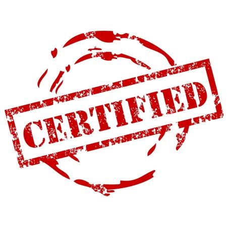 Certificado de sello de goma Ilustración de vector