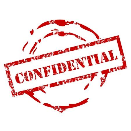 Sello de goma Confidencial
