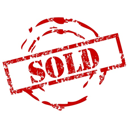 sold: Sold rubber stamp Illustration