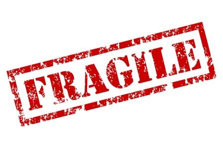 Fragile stempel Vector Illustratie