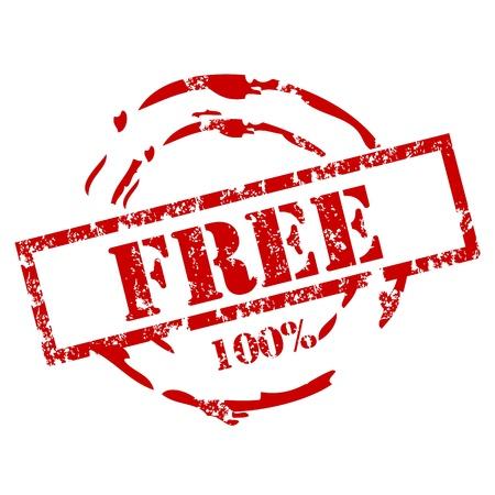 rebate: 100% Free Rubber Stamp Illustration