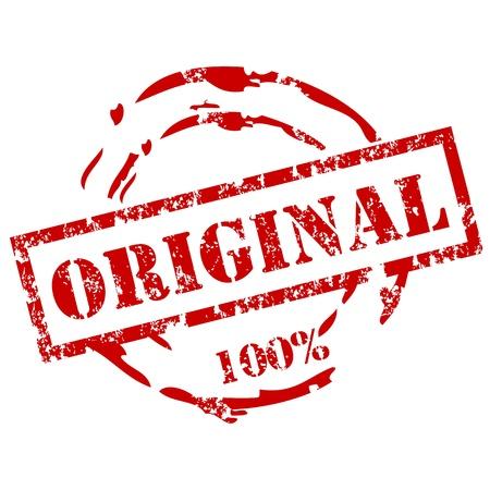 100% d'origine timbre