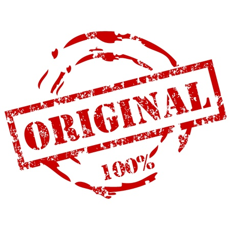 100% Original stamp Stock Vector - 12222193