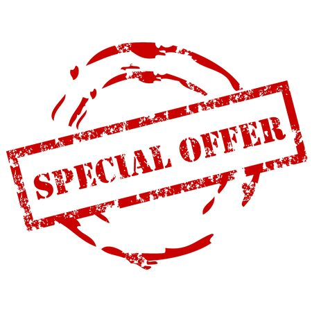 special: Special offer rubber stamp