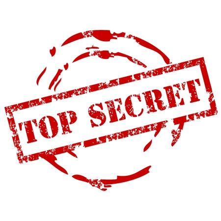 sello de goma: Sello de caucho Top secreta