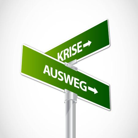 Krise, Ausweg sign Stock Vector - 12481728