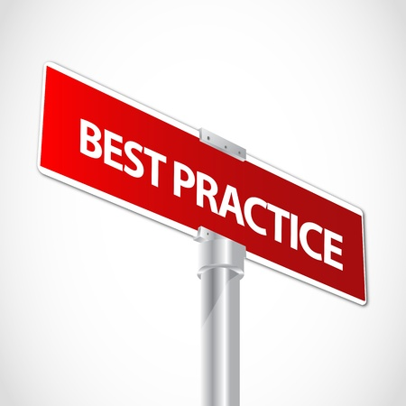 practise: Best Practice sign