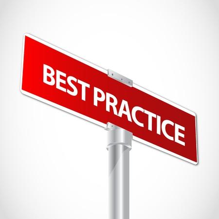 Signo de mejores prácticas