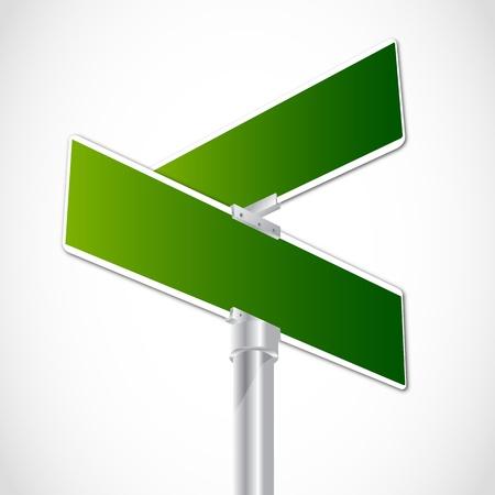 Blank Kreuzung Zeichen