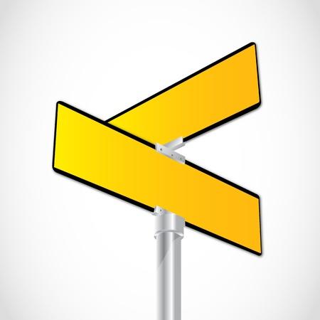 plating: Yellow crossroad sign