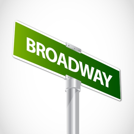 USA Broadway sign Vector