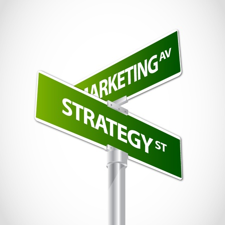 marketing strategy: Marketing strategy sign