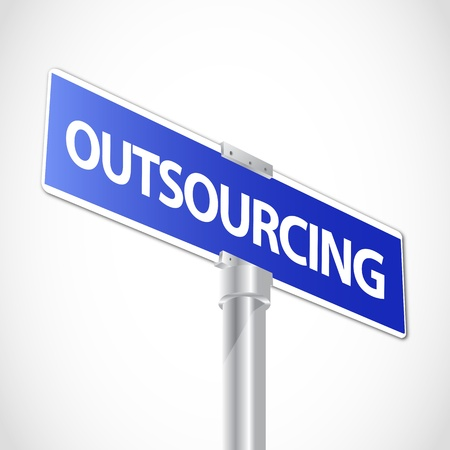 outsourcing: Outsourcing sign