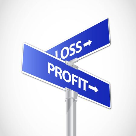 accountants: Profit and Loss sign Illustration
