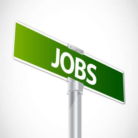 Business Jobs sign Stock Vector - 12481209