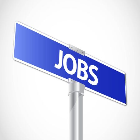 new job: Jobs sign Illustration
