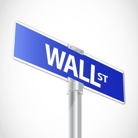 Wall street sign Stock Vector - 12481216