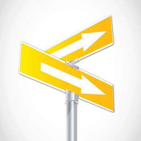 plating: Crossroad Arrow Sign