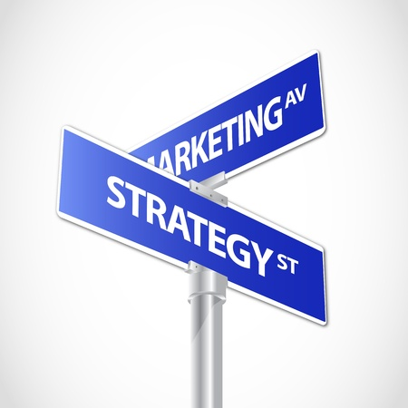 office plan: Marketing,Strategy sign