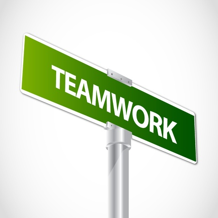 sales meeting: Teamwork sign Illustration