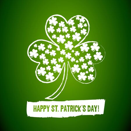 Irish Shamrock Clovers Background Vector