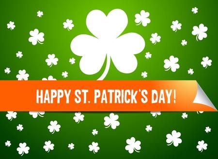Saint Patrick Page Curl Vector
