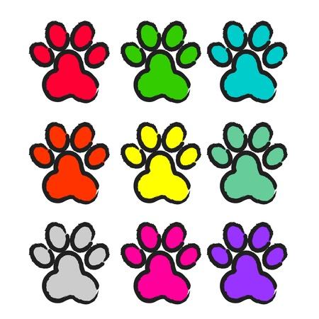 paw prints: paw print set