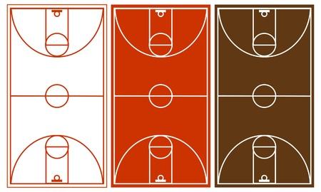 cancha de basquetbol: Cancha de baloncesto Vector Set Vectores