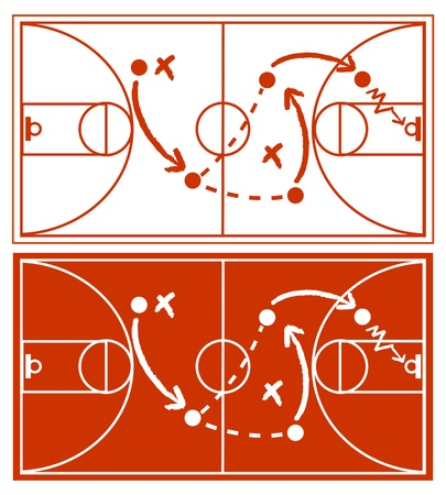 Basketball Strategy Plan Stock Vector - 12585664