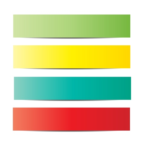 empty banner: colorful paper tag set