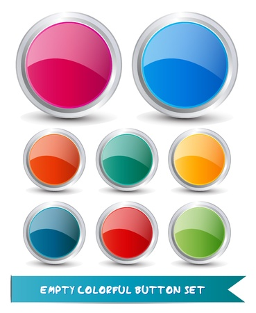 Web button set Vector