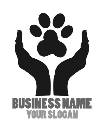 patas de perros: Proteger a los animales Logo