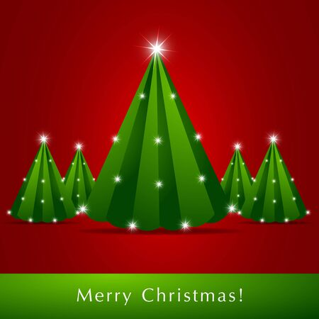 Abstract Christmas Trees Stock Photo - 12585683