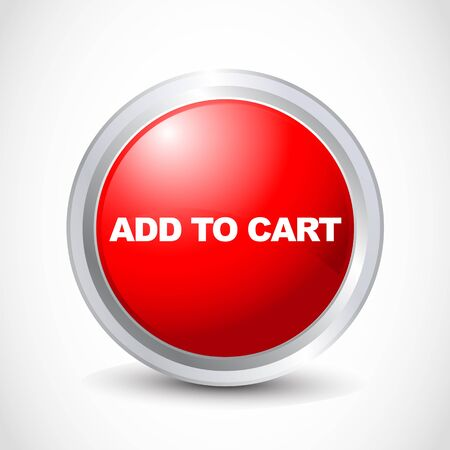 Add to cart glossy button Vector