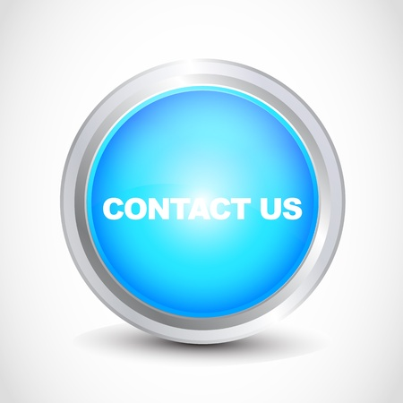 contact us glossy button Stock Vector - 12585711