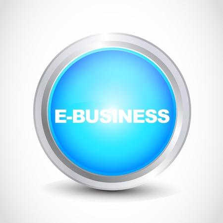e-business button Stock Vector - 12840772