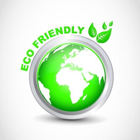 eco friendly button Vector