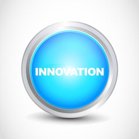 innovation button Stock Vector - 12840766