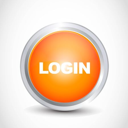 Login glossy button Stock Vector - 12840761