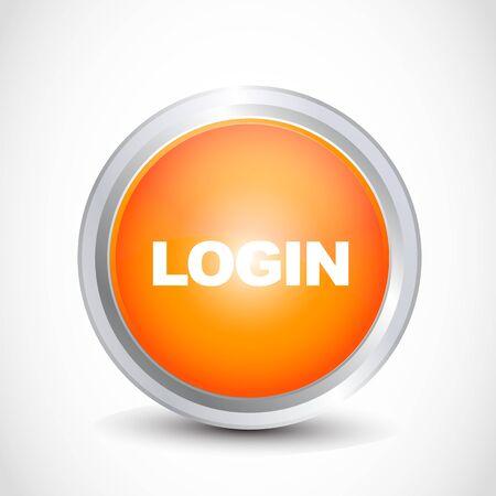 permission: Login glossy button