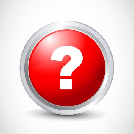 Question glossy button Stock Vector - 12840779