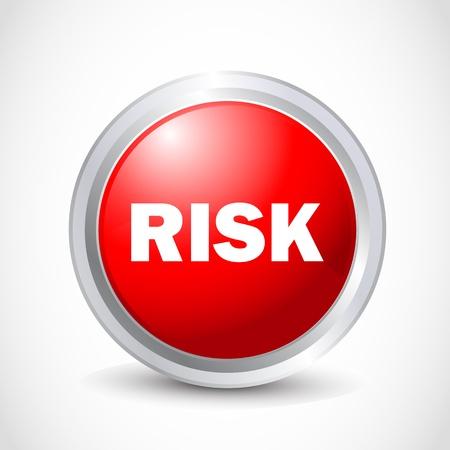 verifying: risk button Illustration